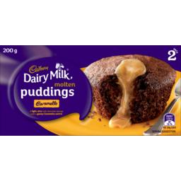 Photo of Sara Lee Cadbury Dairy Milk Caramello Molten Individual Pudding 2 Pack