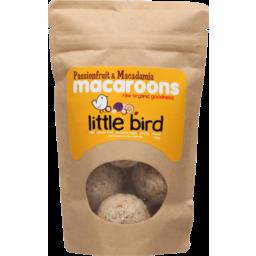Photo of Little Bird Macaroons Macadamia & Passionfruit 125g