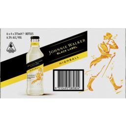 Photo of Johnnie Walker Highball Lemon & Soda 6.3% 275ml 06x04 Pack
