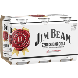 Photo of Jim Beam White Label & Zero Sugar Cola Cans