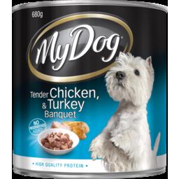 Photo of My Dog Tender Chicken & Turkey Banquet 680g