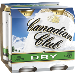 Photo of Canadian Club & Dry Can 375ml 4 Pack