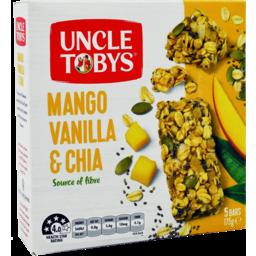 Photo of Uncle Tobys Vanilla Mango Chia Mslibar 5x175g