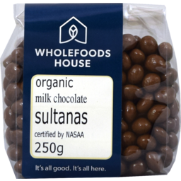 Photo of Wholefoods House Chocolate Sultanas Milk 250g