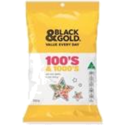 Photo of Black & Gold 100s & 1000s 250gm