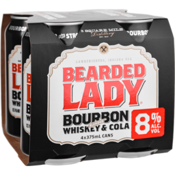 Photo of Bearded Lady Bourbon & Cola Can