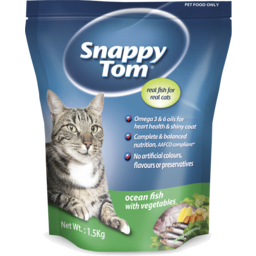 Photo of Snappy Tom Dry Cat Food Oceanfish with Vegetables 1.5kg