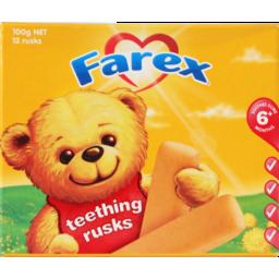 Photo of Farex Babyfood Teething Rusks Plain 6+ Months 100g