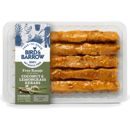 Photo of Bird & Barrow Free Range Chicken Kebabs Coconut & Lemongrass 5 Pack