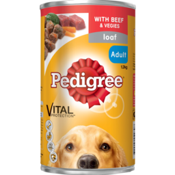 Photo of Pedigree Adult Dog Can Traditional Loaf With Beef & Vegetables 1.2kg