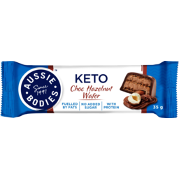 Photo of Aussie Bodies Choc Hazelnut Wafer Keto Bar 35g