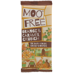 Photo of MOO FREE:MF Chocolate Bar Orange Caramel 80g