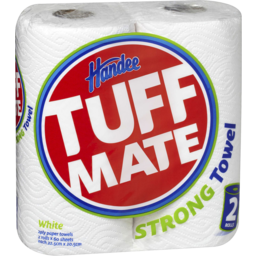 Photo of Handee Tuff Mate White Paper Towels 2pk