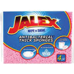 Photo of Jalex Antibacterial Thick Sponges 4pk