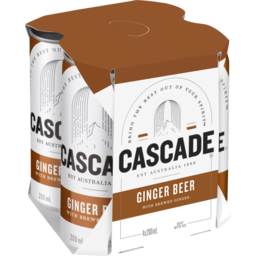 Photo of Cascade Ginger Beer Can 200ml 4pk