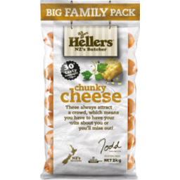 Photo of Hellers Chunky Cheese Precooked Sausages 2kg