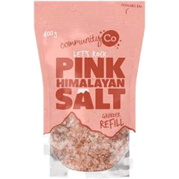 Photo of Community Co Pink Himalayan Salt Grinder Refill 400g