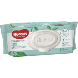 Photo of Huggies Baby Wipes Fragrance Free Refill 80 Pack