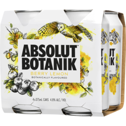 Photo of Absolut Botanik Berry Lemon & Vodka Cans