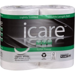 Photo of iCare Toilet Roll Double Length 4pk