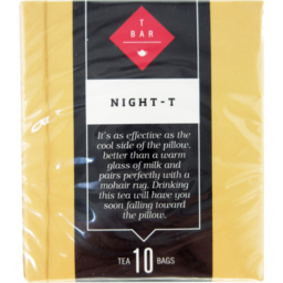 Photo of T Bar Night-T Tea Bags 10 Pack 15g