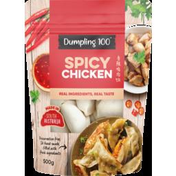 Photo of Dumpling 100 Spicy Chicken Dumplings 500g