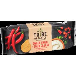Photo of Tribe Organics Chilli & Sour Cream Rice Crackers 100g