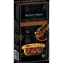 Photo of Herbert Adams Slow-Cooked Chunky Beef & Mushroom 2pk
