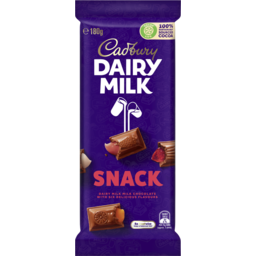 Photo of Cadbury Dairy Milk Snack Milk Chocolate Block 180g
