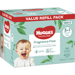 Photo of Huggies Thick Baby Wipes Fragrance Free 400 Pack
