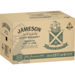 Photo of Jameson Smooth Dry & Lime 333ml 24 Pack