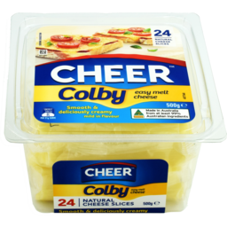 Photo of Cheer Cheese Slices Colby 500gm