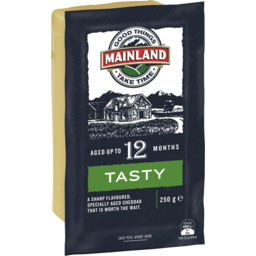 Photo of Mainland Tasty Cheddar Cheese 250 G