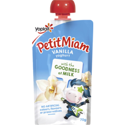 Photo of Yoplait Petit Miam Yoghurt Vanilla 70g Kids Pouch