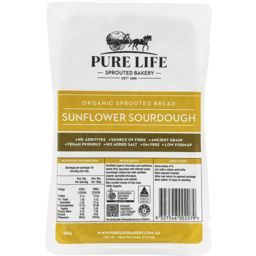 Photo of Pure Life Bakery Sprouted Sunflower Sourdough Loaf (Unsliced)