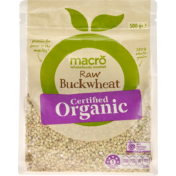 Photo of Macro Organic Raw Buckwheat 500g