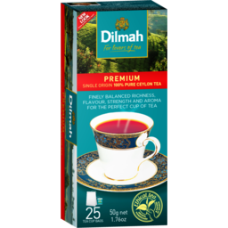Photo of Dilmah Black Tagged Teabags Premium 25