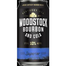 Photo of Woodstock Bourbon & Cola 10% 375ml