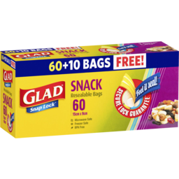 Photo of Glad Snaplock Reseal Snack Bags 60pk