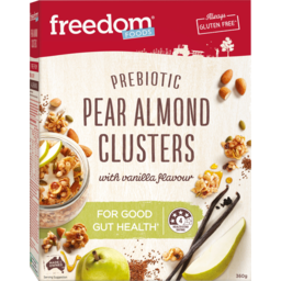 Photo of Freedom Foods Pear Almond With Vanilla Flavour Prebiotic Clusters 360g