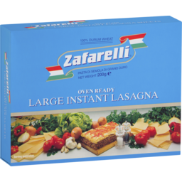 Photo of Zafarelli Pasta Oven Ready Large Instant Lasagna 200g