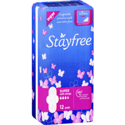 Photo of Stayfree Super Pads With Wings 12 Pack