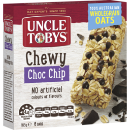 Photo of Uncle Tobys Chewy Choc Chip 6 Muesli Bars 185g