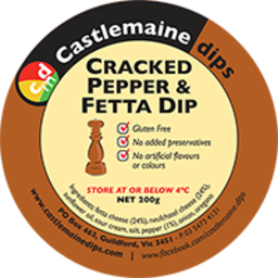 Photo of Castlemaine Dip Cracked Pepper & Feta 200g