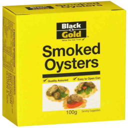 Photo of Black & Gold Smoked Oysters 100g
