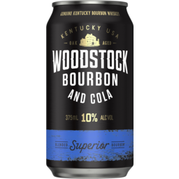 Photo of Woodstock Bourbon & Cola 10% Can