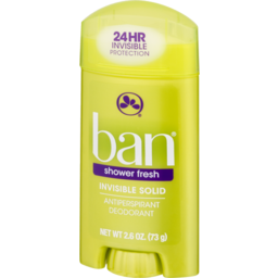 Photo of Ban Invisible Solid Shower Fresh Antiperspirant Deodorant