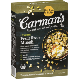 Photo of Carman's Original Fruit Free Muesli 500g