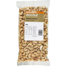 Photo of Best Buy Cashews Salted 500g