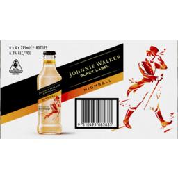 Photo of Johnnie Walker Highball Blood Orange & Soda 6.3% 275ml 06x04 Pack